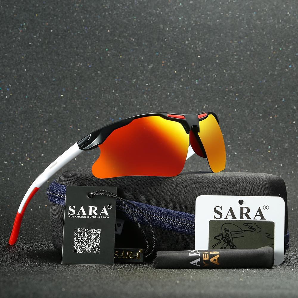 Sara Polarized Sunglasses Men Outdoor Sport Semi Rimles Sunglasses ...