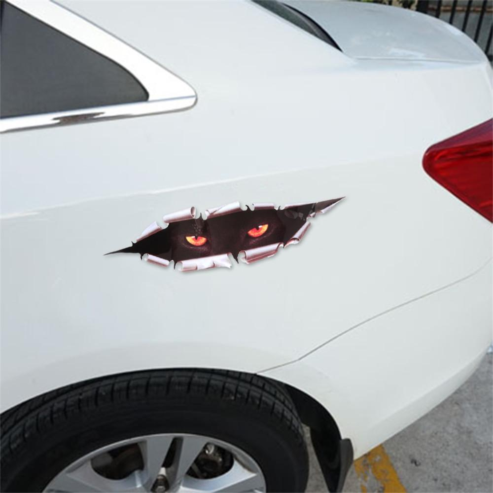 2019 cool car styling funny cat eyes peeking car sticker waterproof peeking monster auto accessories whole body cover for all cars from etocar