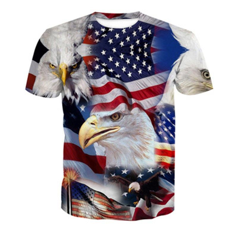 a194f4f539d Newest Men Womens American Flag Eagle 3D Print Latest Harajuku Style T  Shirt Tops Plus Size Style Outfit Funny 3D T Shirt Tees Top U1173 On T  Shirts It Tee ...