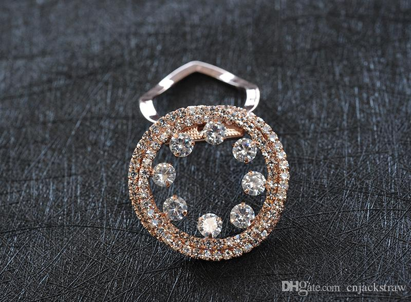 Fashion Broochs Accessories Dual Purpose Exquisite Brooch AAA CZ Cubic zirconia Scarf Scarf Buckle Clip Flower Brooch Pin