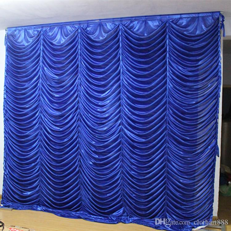 3M*3M wave backdrop party water ripple background valance wedding backcloth  stage curtain (10ft*10ft)