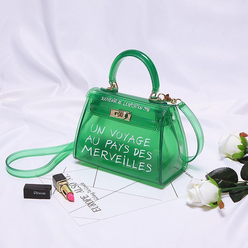 37595238adc1f Satın Al Lüks Satchel Çanta Kadın Çantası Temizle Jelly Şeffaf PVC Çanta  Şeker Renk Bez Çanta Tasarımcısı Bolsa Kadın Crossbody, $42.29 |  DHgate.Com'da