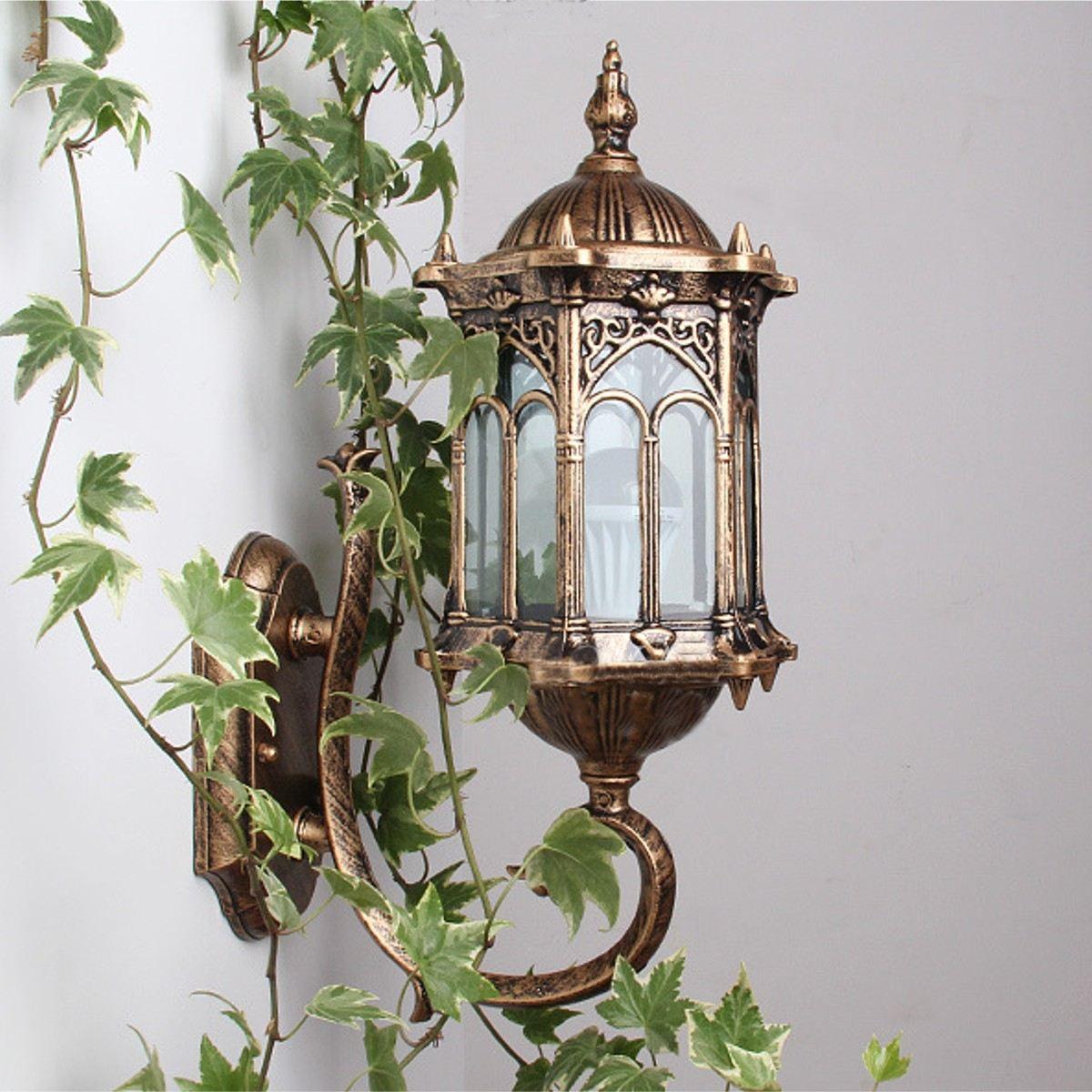 exterior lantern lighting. 2018 E27 Antique Bronze Outdoor Exterior Lantern Light Sconce Garden Led Porch Lamp Ac220v Wall From Samanthe, $56.88 | Dhgate.Com Lighting