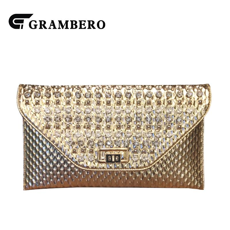 9d760cfc8455 Fashion Diamond Clutch Purse PU Leather Cover Clutches Wallet Women Evening  Bag Modern Envelope Crossbody Shoulder Bags For Gift Beach Bags Designer  Bags ...