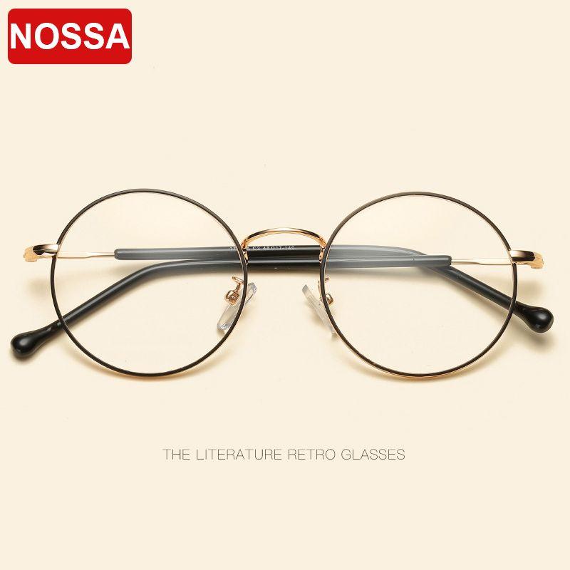 2018 NOSSA Fashion Round Glasses Frames Trendy Eyewear Frames Men ...