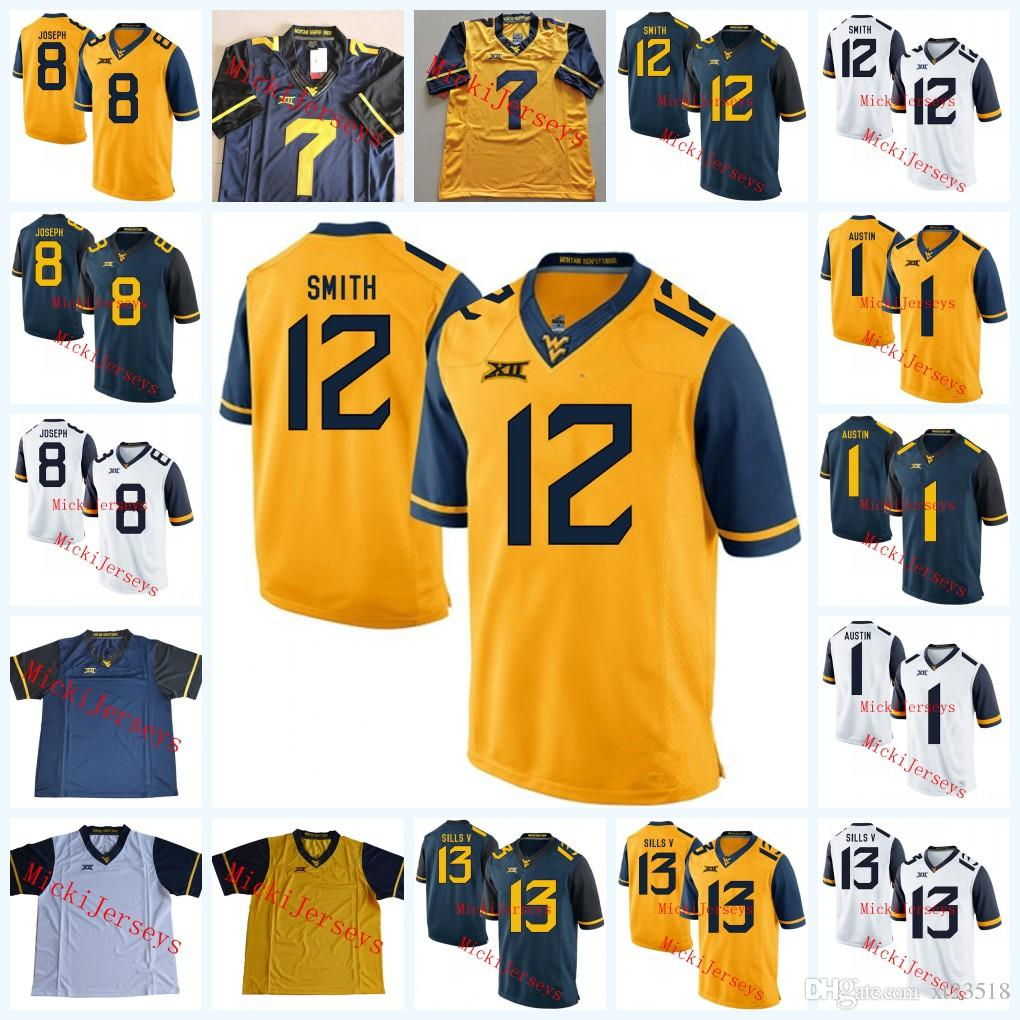 8e7c0e7349c 2019 NCAA West Virginia Mountaineers Sam Huff College Football Jerseys Karl  Joseph David Sills Oliver Luck TaVon Austin Geno Smith WVU Jersey From  Xt23518