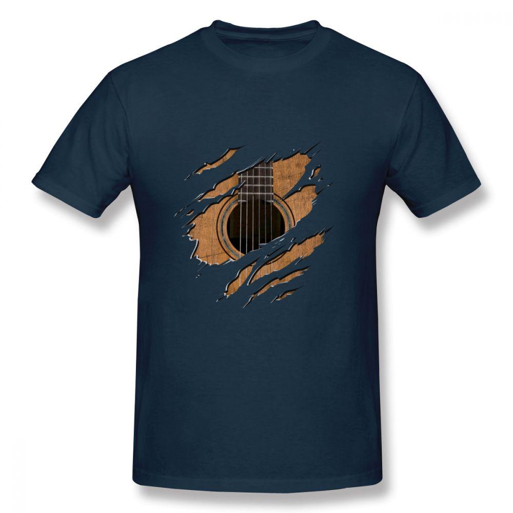Leisure Rip Guitar T Shirt Male Cheap Top Design For Boy T Shirt