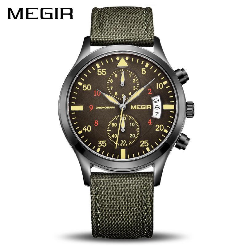 510c8ebd231d Compre MEGIR Hombres Originales Relojes De Moda Lienzo Militar Reloj Para  Hombres Suaves Macho Relojes De Pulsera De Cuarzo Relogio Masculino Reloj  Hombre ...