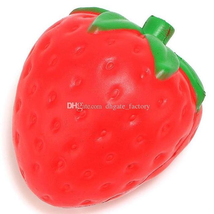 12cm big Colossal strawberry squishy jumbo simulation Fruit kawaii Artificial slow rising squishies queeze toys bag phone charm Fast Ship