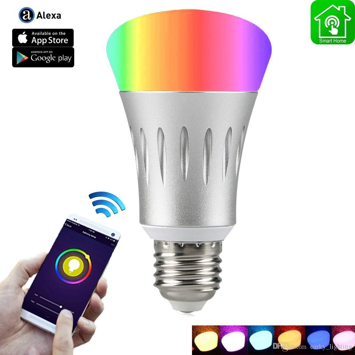 Wi Fi Smart Light Bulb Dimmable Multicolored LED Bulbs 65W Equivalent7W Compatible With Amazon Alexa And Google Home No Hub Required 12v Led