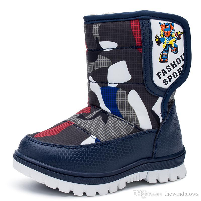 76b73b05f Compre Botas De Nieve Para Niños Botas De Invierno Para Niños Zapatos A  Prueba De Agua Moda Botas Cálidas Para Bebés Para Niños Calzado Para Niños  Pequeños ...