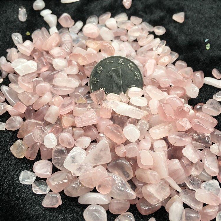 50g Pink Rose Quartz Irregular Tumbled Stones Gravel Crystal Healing Reiki Rock Gem Beads Chip for Fish Tank Aquarium Decor