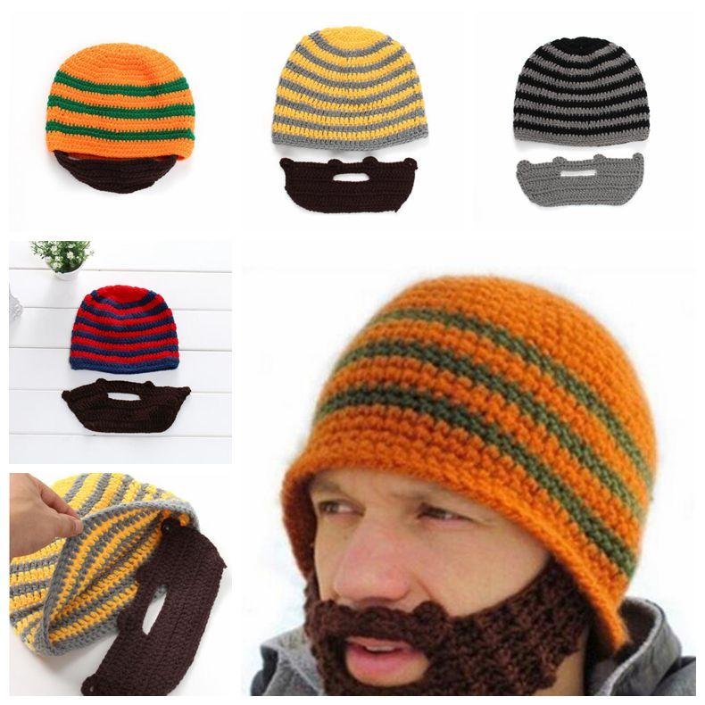 14da819e0e5 2019 Skull Caps Bearded Knitted Hats Beard Knitted Hat Warmer Ski Bike  Skull Hat Unisex Beard Outdoor Cap Party Hats CCA10753 From Best sports