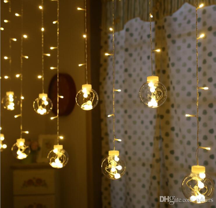 30 Stunning And Creative String Lights Wedding Decor Ideas: LED String Lights Flashing Light Ice Curtains Background