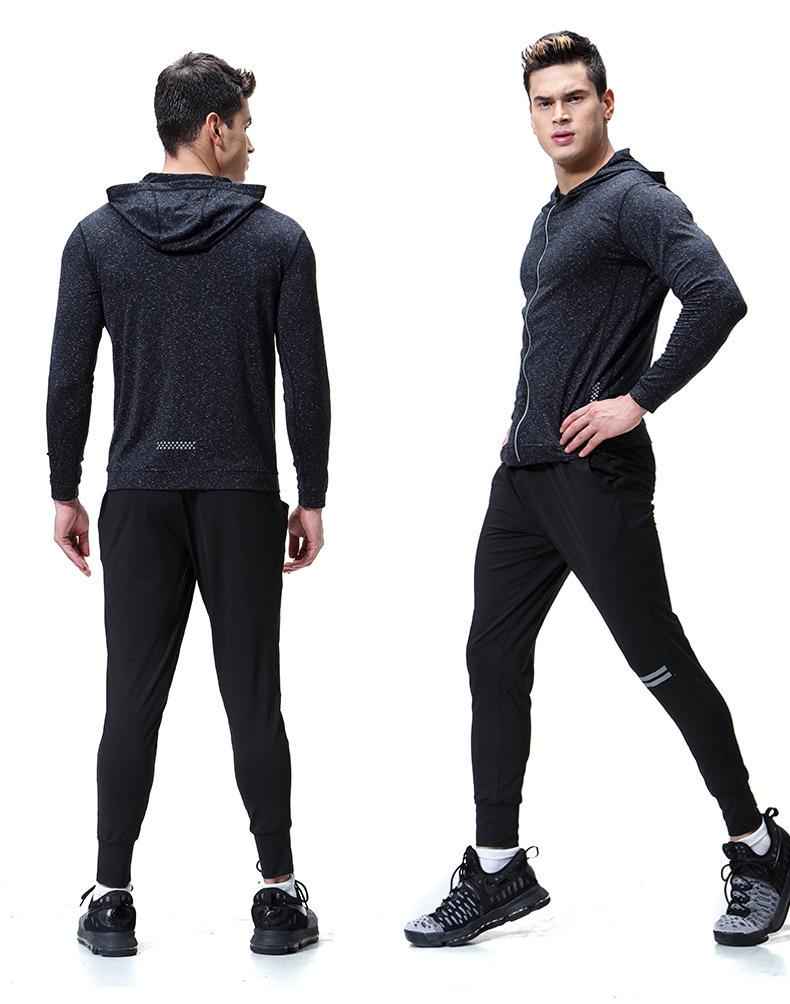 54060580f2b 2019 Zipper Hooded Jacket Fitness Clothing Long Sleeved Sports Quick Drying  Cardigan Fitness Jacket GYM Wear Men From Enhengha