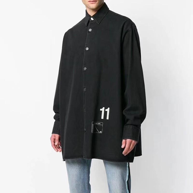 cc9a0e616 RAF SIMONS Denim Shirt Couple Men Women Fashion Casual Outwear Street  Skateboard Hip Hop Jacket Oversize Autumn Winter HFYMJK167 Clothing Jackets  Mens ...
