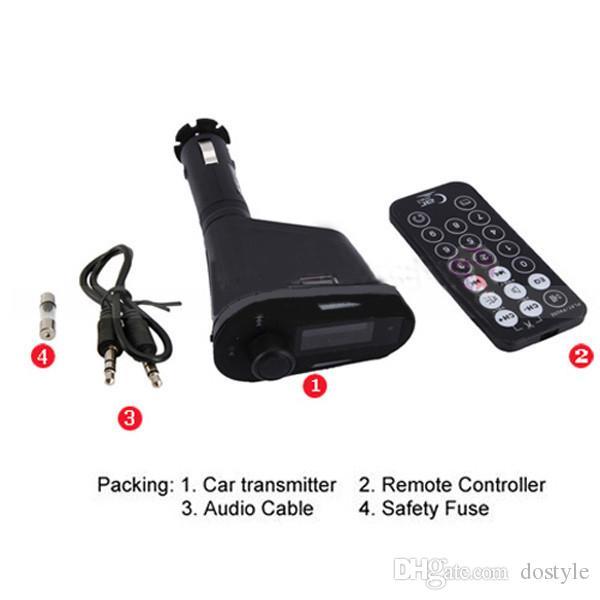 Universal Car Kit Music Player Trasmettitore FM Radio Adapter USB SD MMC Kit caricabatteria auto MP3 Player non Bluetooth FM Transmitte car audio