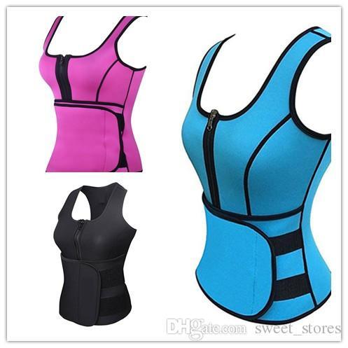 67b076e726 Hot Body Shaper Women Slimming Vest Thermo Neoprene Waist Trainer Neoprene  Sauna Vest Vest Adjustable Waist Trainer Body Shaper 2018 UK 2019 From ...