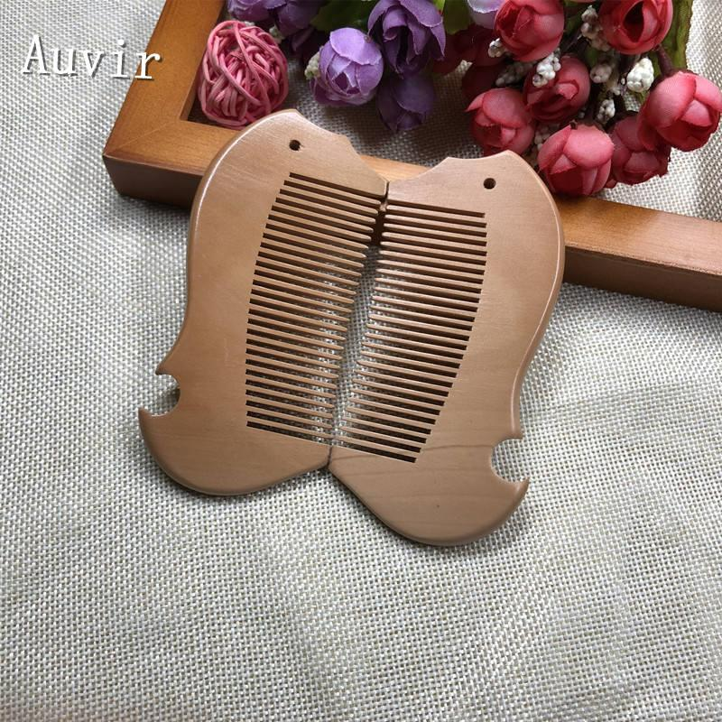 50pcs Personalized Mahogany Comb Wedding Gift Fish Peach Wood Comb Write Names + Customized Printing+ Free Shipping
