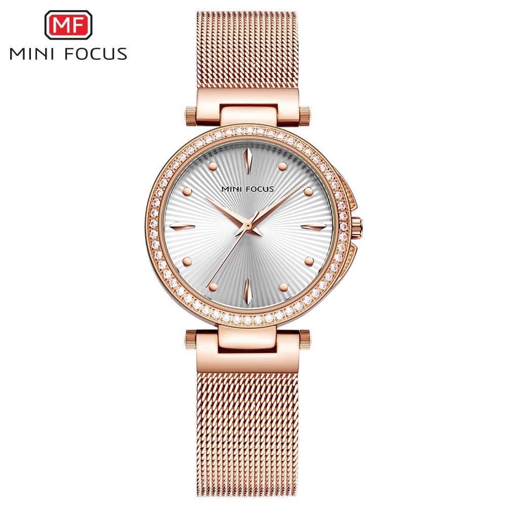 e080b2d9ca2 Compre MINI FOCO Moda Relógio De Quartzo Das Mulheres Relógios Senhoras  Meninas Famosa Marca Relógio De Pulso Relógio Feminino Montre Femme Relogio  ...