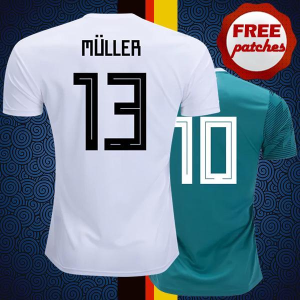 f254ffc0d Top Thai Quality Deutschland 2018 2019 Home Away Soccer Jerseys ...