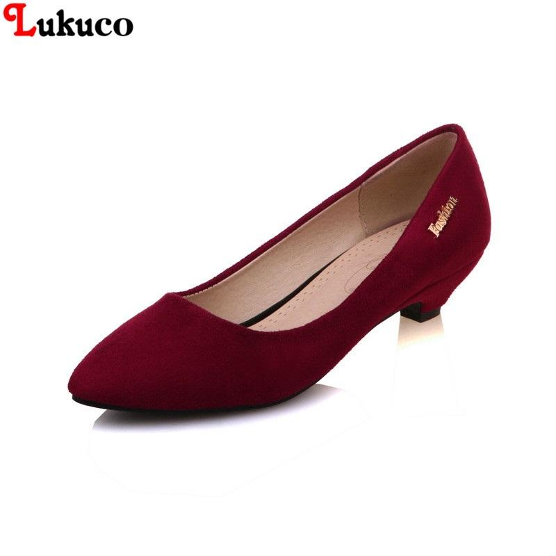2019 Comfortable Low Heel Large Size 45 46 47 48 Lukuco Women Shoes