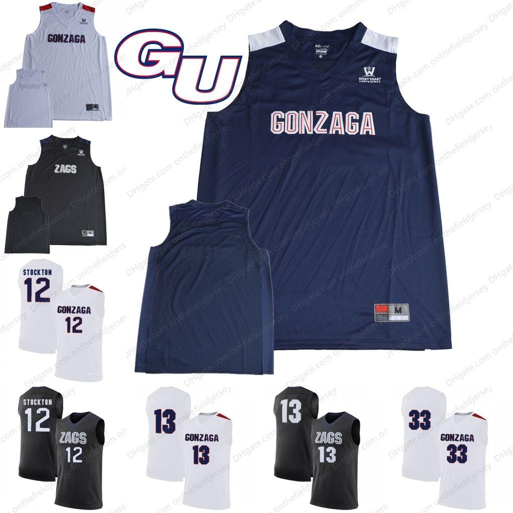 2019 Custom Gonzaga Bulldogs Ncaa Basketball Jerseys Any Name Number