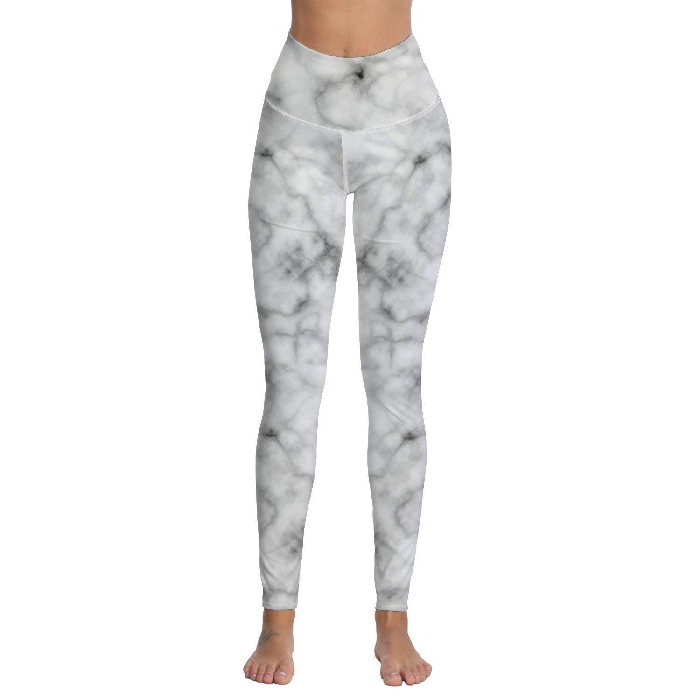 da2b6d85b6 Womens Marble Printed Performance Activewear-Yoga Workout Running ...