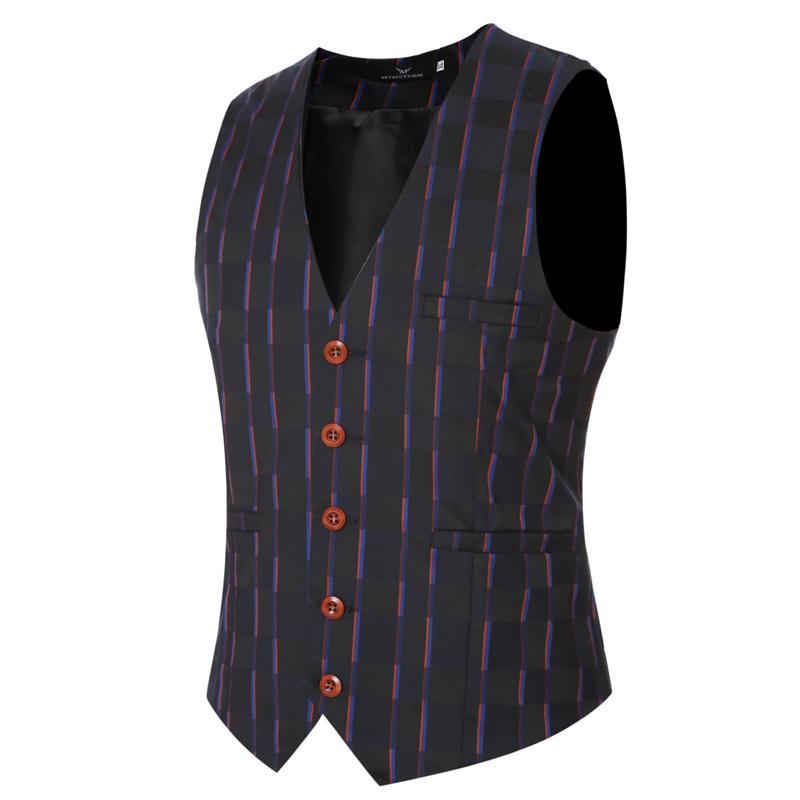 05fbca7e5 2017 Fashion Cowboy Wedding Suit Vests Mens Black Gray Prom Plaid Waistcoat  Plus Size Sleeveless Jacket Lesuire Waist Coat Z20