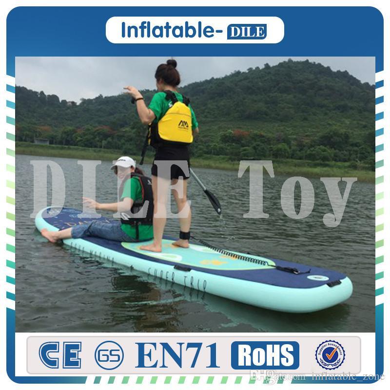 Бесплатная доставка 305x76x15cm Раздувной стоит вверх доска для серфинга серфинг доска Спорт хлебать воду с весла насос