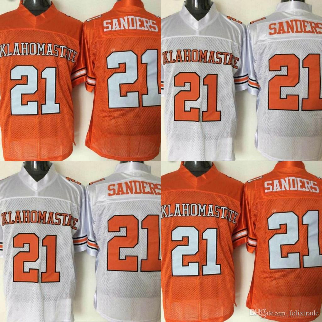 5d24b363e2c 2019 Oklahoma State Cowboys College Jerseys 21 Barry Sanders College  Football Jerseys Stitched White Orange From Felixtrade, $19.04 | DHgate.Com