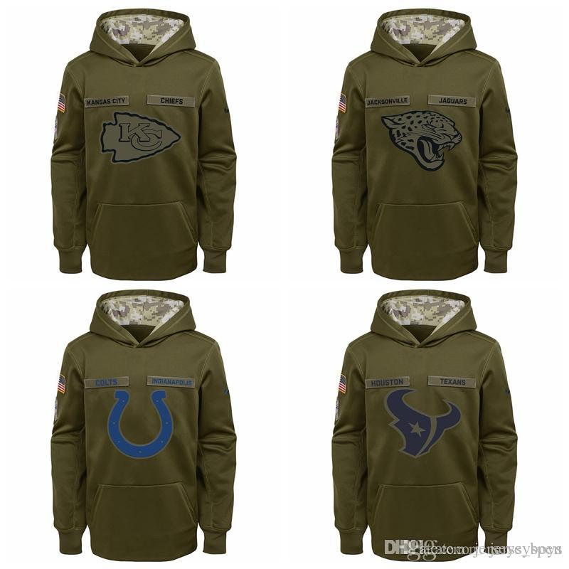 3027a6501 2019 Kid Los Angeles Chargers Kansas City Chiefs Jacksonville Jaguars Indianapolis  Colts Youth Salute To Service Pullover Performance Hoodie Gr From ...