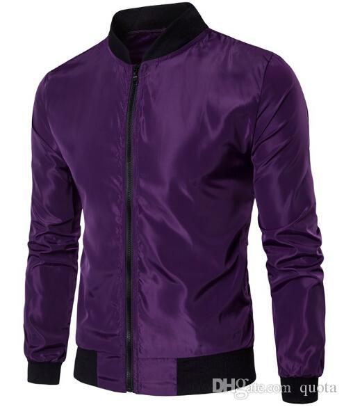 Neue Frühling Männer dünne Beschichtung Solid Color Sport Casual Männer Stehkragen dünne Beschichtung mit Tasche