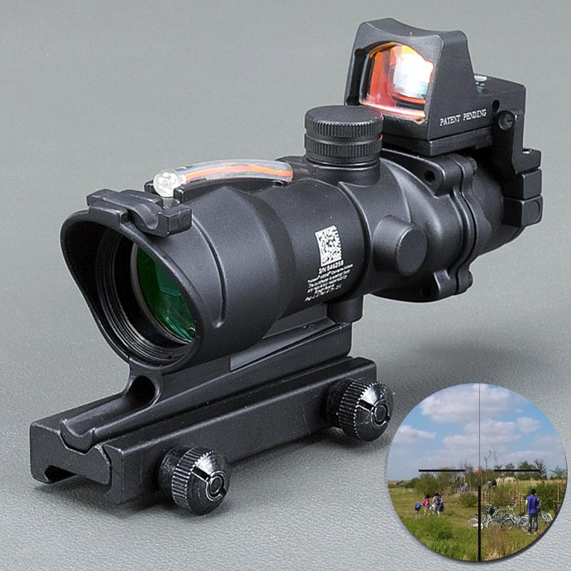 7738cf287f Acheter Trijicon ACOG 4X32 Noir Tactique Réel Fibre Optique Rouge Illuminé  Collimateur Rouge Point Sight Chasse Riflescope De $153.49 Du Loukang1 |  DHgate.