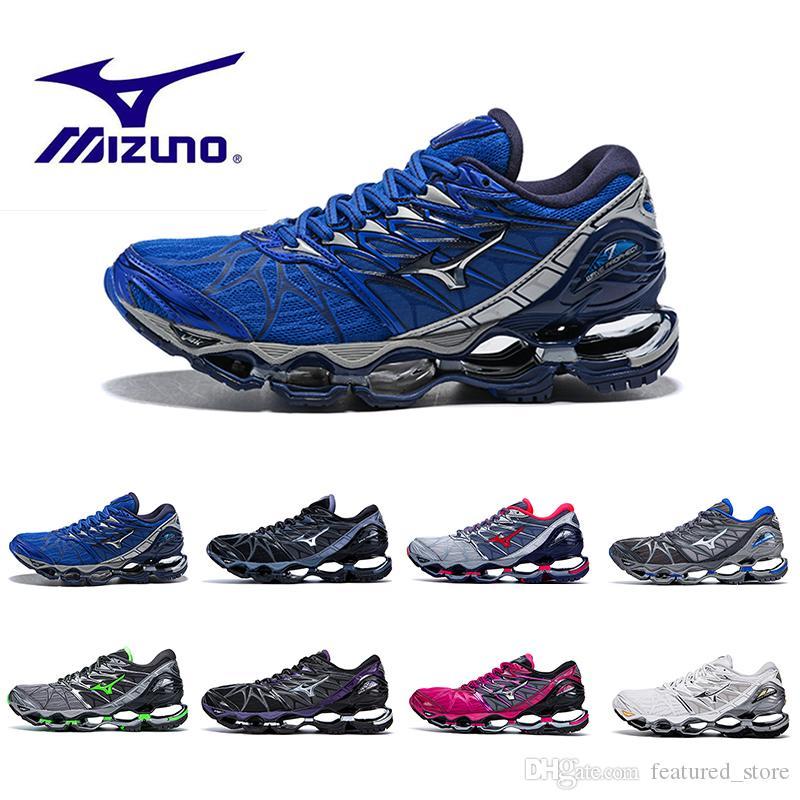 df8e69623ba62b Acheter Date Mizuno Wave Prophecy 7 Chaussures De Course Tampon Mode Hommes  Femmes Originals Top Qualité Sport Sneakers Chaussure Grisâtre Violet  Taille 36 ...