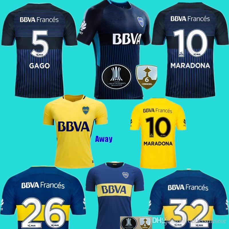 35425aaf61b 2019 2018 Boca Soccer Jersey 2017 18 Boca Junior Home Soccer Jerseys 17 18  Argentina Club Football Shirts Thai Quality Away Yellow Jeresys From ...