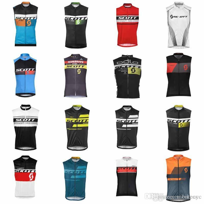 SCOTT team Cycling Sleeveless jersey Vest bike wear clothes MTB Ropa Ciclismo pro cycling clothing mens F611
