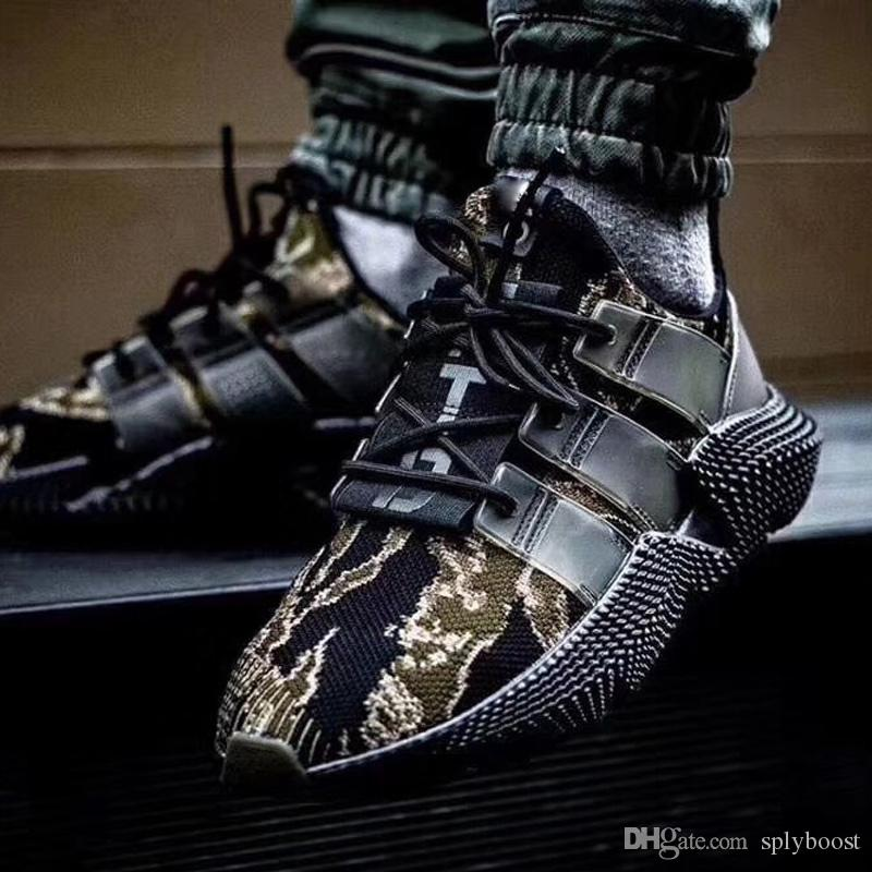 meet 66101 f9422 UNDEFEATED x Orijinals Prophere tiger stripes camouflage hedgehog slip-on  fly woven joker slow running shoes for men and women running shoes