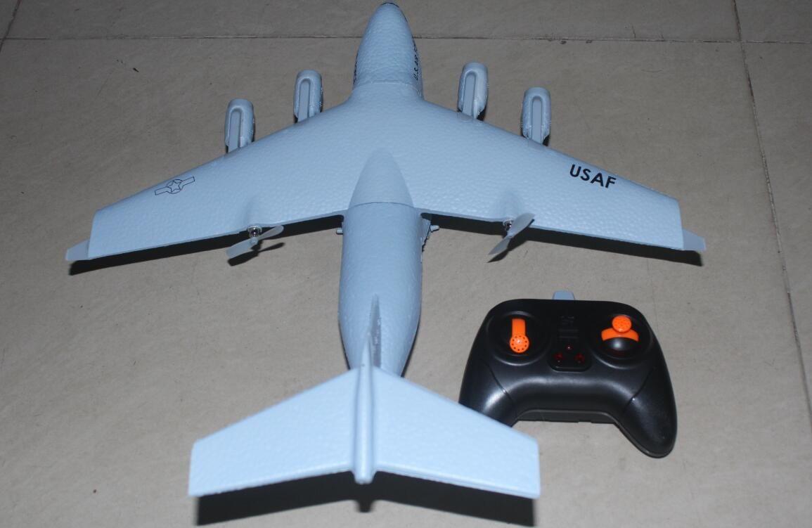2CH C-17 C17 Transport Wingspan 373mm EPP DIY RC Airplane RC Toys Flugzeug gebürstet 2,4 GHz Achse Gyro RTF Spielzeug Flugzeug