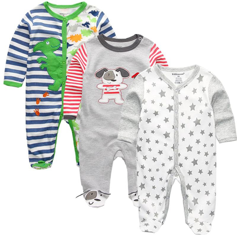 d39948b24560 2019 Newborn Winter Clothes Baby Boys Girls Rompers Pattern Long ...