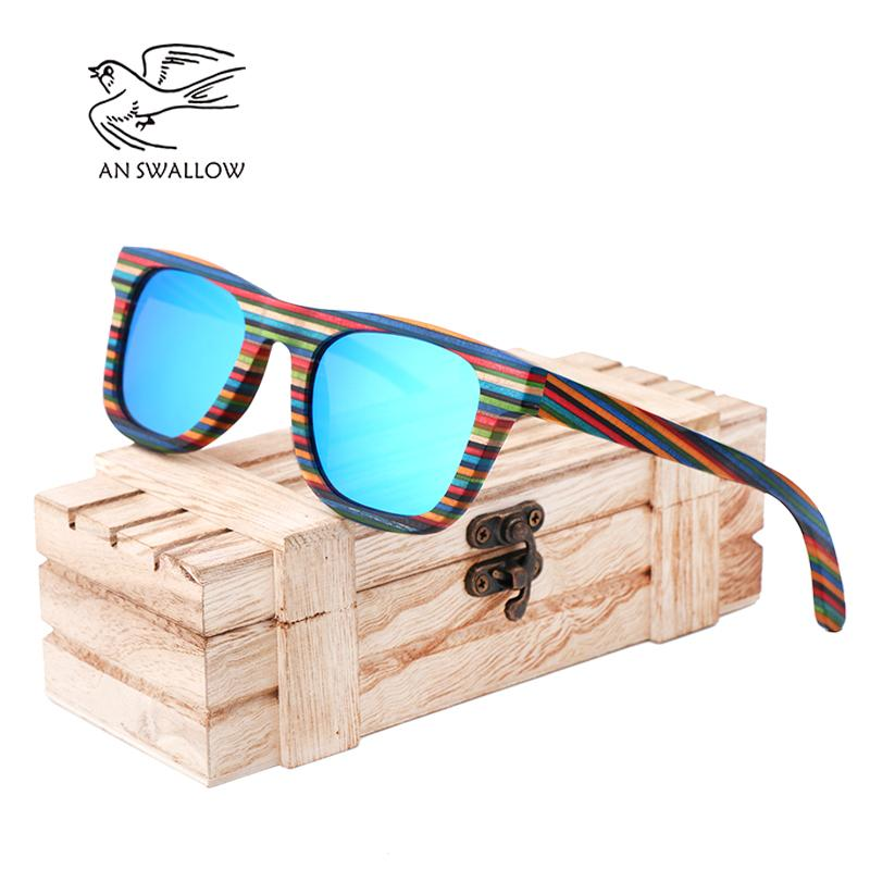 7b3fb046d71cc AN SWALLOW Polarized Wooden Sunglasses Men Bamboo Sun Glasses Women Brand  Designer Original Wood Glasses Oculos De Sol Masculino Retro Sunglasses  Baseball ...