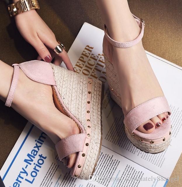 2018 New Summer White Wedge Espadrilles Women Sandals Open Toe Gladiator  Sandals Women Casual Lace Up Women Platform Sandals Comfortable Shoes  Discount ... 1e9482c86d6a
