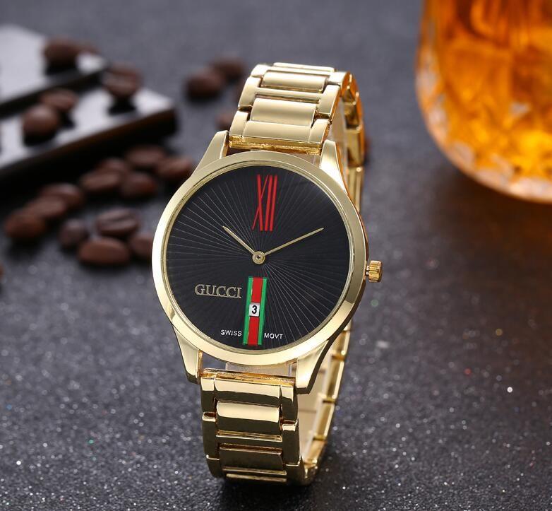 2e0a90ad68a1 Compre Popular Diseñador Famoso Reloj Dama Moda Lujo Acero De Alta Calidad  Con Cuarzo Fecha Automática Reloj Impermeable Diseño De Marca A  27.74 Del  Qs110 ...