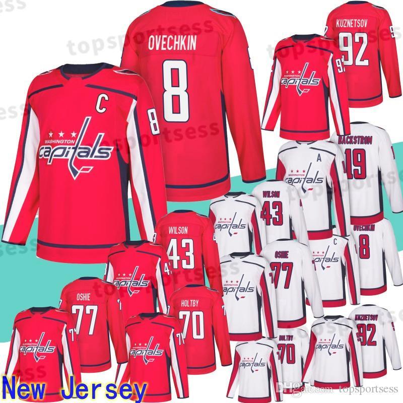 new styles 1c90a 72e2d 8 Alex Ovechkin Jersey Washington Capitals 77 T.J. Oshie 92 Evgeny  Kuznetsov 19 Nicklas 43 Tom 70 Braden Holtby Hockey Jerseys