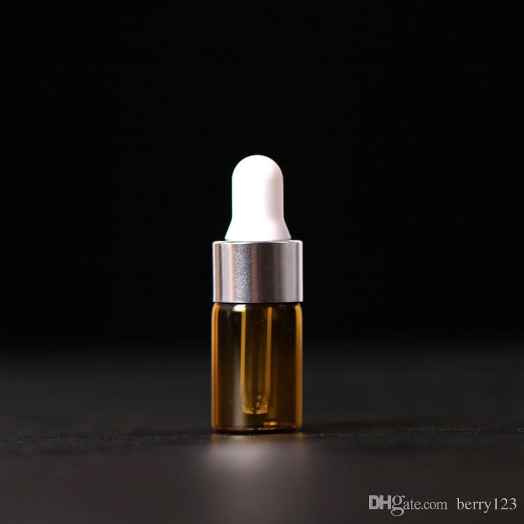50 шт./лот 1 мл,2 мл,3 мл,5 мл пустые стеклянные эфирные масла капельницы бутылки многоразового мини Янтарный сыворотки флаконы с Piette