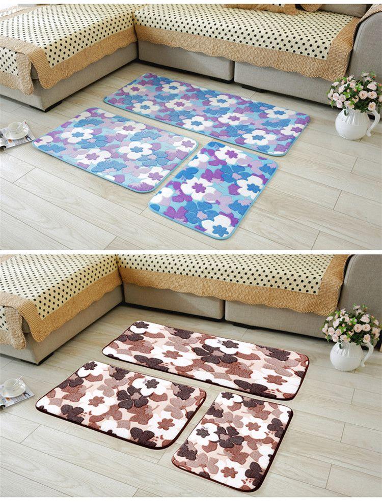 Lovely Cushion Slippery Floor Mat Bedroom Doormat Living Room Bedside Mat Bathroom Floor Mat Set Rugs For Kitchen Antislip Rug