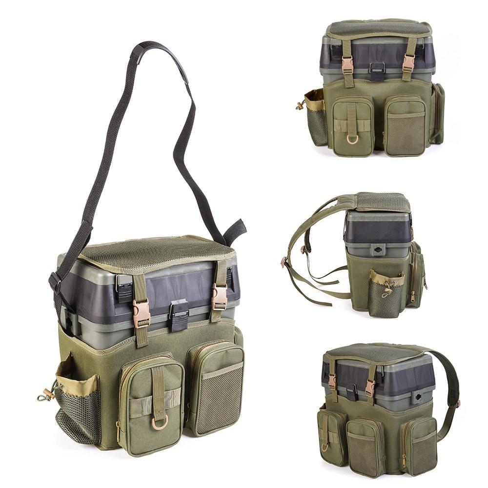 Fishing Tackle bag Multifunctional Backpack with Tackle Box Fishing Gear  Utility Storage Shoulder Bag