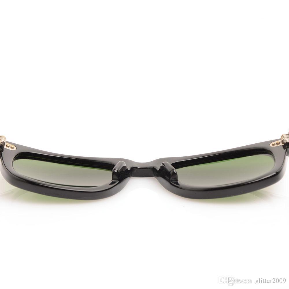 Excelente calidad Plank Sunglasses Marco negro Bisagra de metal Gafas de sol Moda Hombres Gafas de sol Gafas para mujer Diseñador de la marca gafas unisex