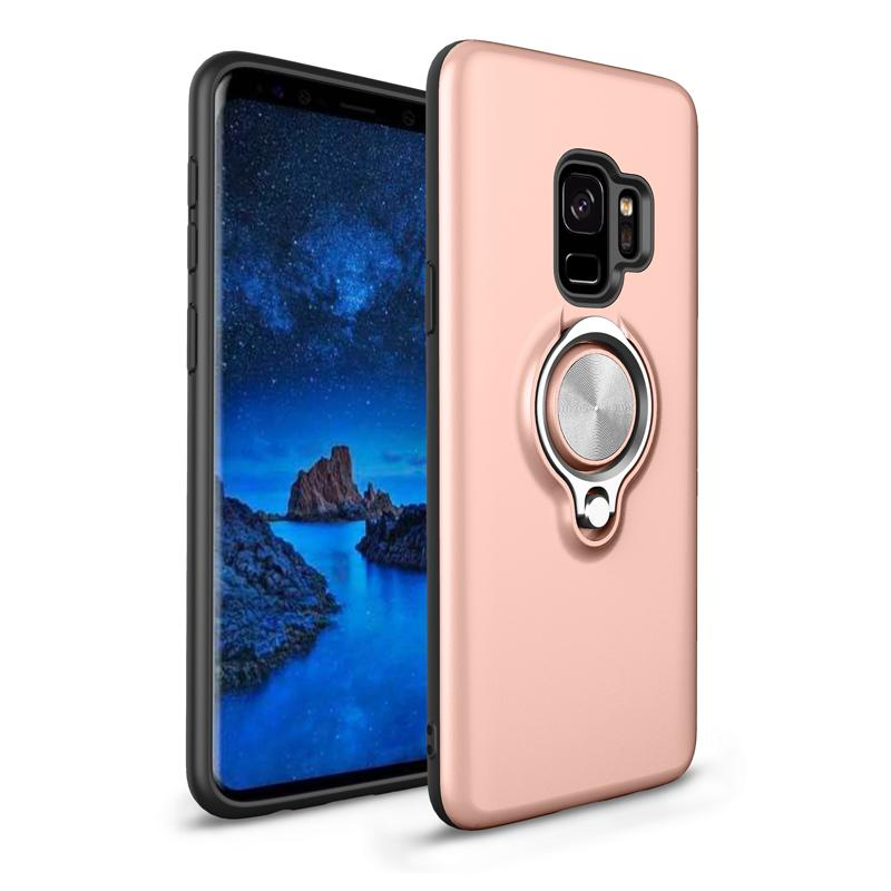 Phone Cases Circular Ring Button Vehicle Magnetic Absorption TPU Cases For Samsung S8 S9 Plus Note 8 Case Case Full Package
