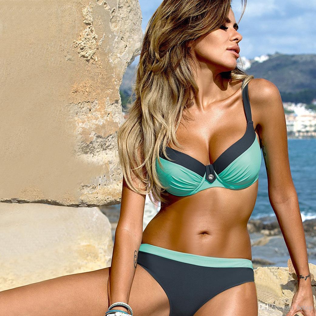 229b626cc1e0d 2019 New Sexy Bikinis Set Push Up Swimwear Women Strap Bandage Swimsuit  Bathing Suits Summer Beach From Betop, $10.56 | DHgate.Com